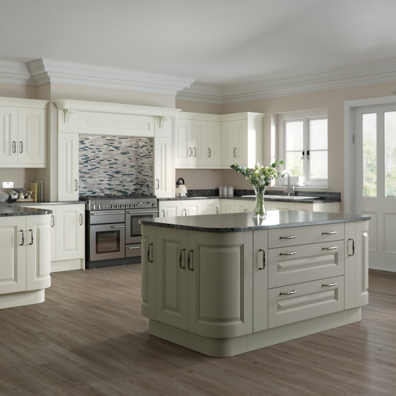Ivory Shaker Kitchen Pictures: Character Painted Ivory And Light Grey